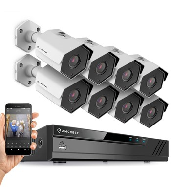 Amcrest 8 channel NVR kit