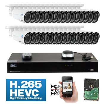 GW Security 32 Channel H265 NVR System