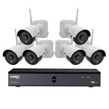 Lorex 6 channel wire-free outdoor camera system kit
