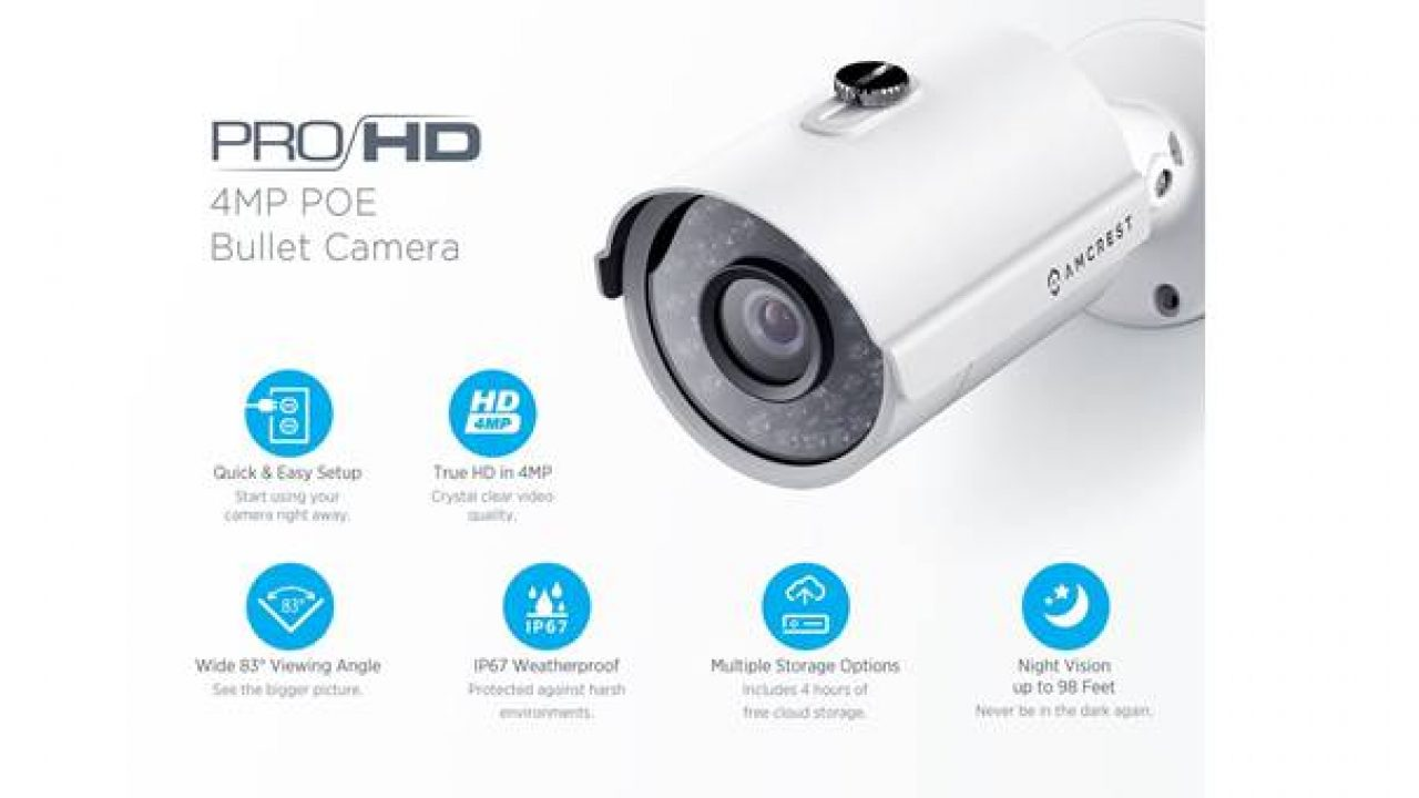 Amcrest Vs Hikvision 4MP POE Outdoor Camera   Security