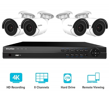 Laview 8 channel 4k security system kit