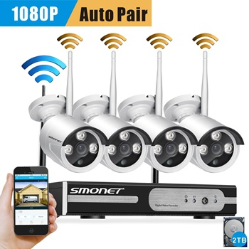 Smonet 8 channel wireless NVR system