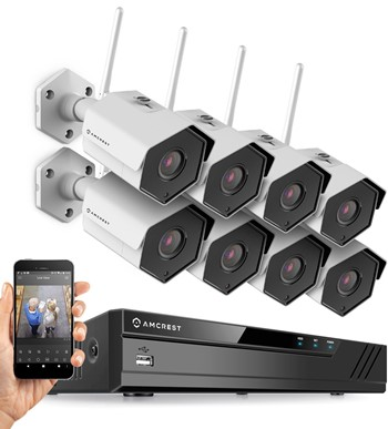 Gw Security Outdoor Wireless Security Camera System With