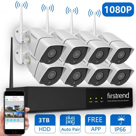 Firsttrend 8 channel wifi nvr system