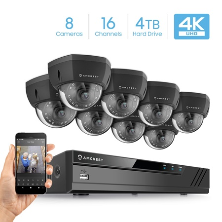Amcrest 16 channel security system kit