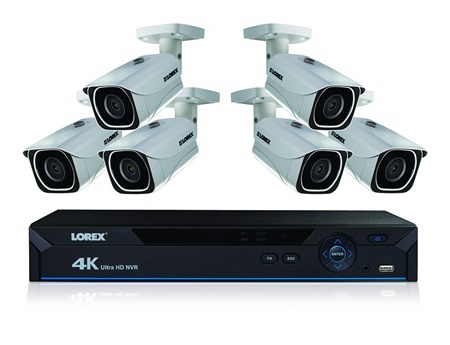 Lorex 4k 8 channel kits with Color Night Viion