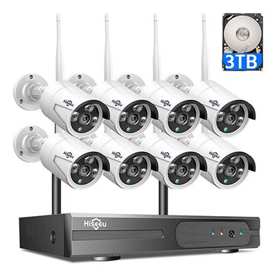 Hiseseu 8 channel wireless security camera system kit