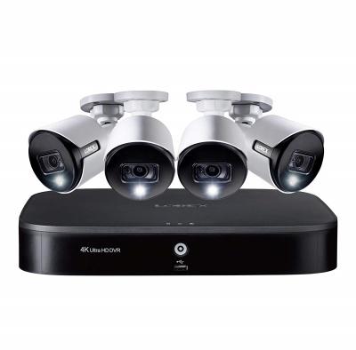 Lorex 8 channel dvr with 4pcs 4k security camera