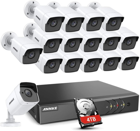 Annke 16 channel security camera system kits