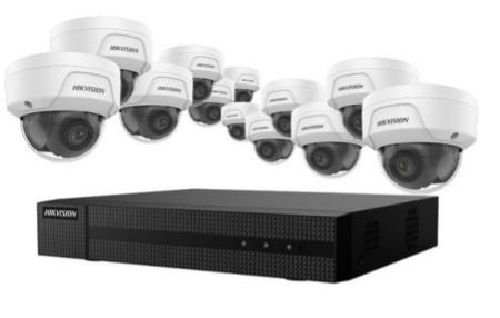 Hikvision with ERI-K216-P16 NVR + (12) ECI-D24F2 Cameras