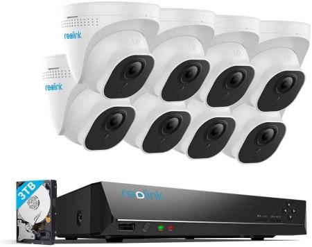 Reolink RLK16-800D8 16 channels with 8pcs 4k cameras